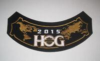 NEW 2015 HOG Harley Davidson Owners Group Patch Badge for Jacket or Vest Unused