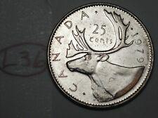 Canada 1979 25 cents Canadian Caribou Quarter Coin Lot #L36