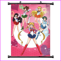 Sailor Moon Anime painting Wall Scroll Poster Home Decor Art Cos Painting #5
