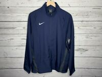 Nike Mens Blue Dri-Fit Team Woven Full Zip Jacket Size Medium NWT