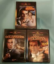 007 - Lot of 3 DVDs - DR. NO, GOLDFINGER, & THE MAN WITH THE GOLDEN GUN