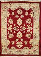 Rugstc 2x3 Senneh Chobi Ziegler Red Area Rug,Natural dye, Hand-Knotted,Wool Pile