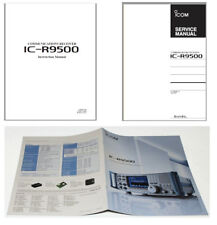 PHOTOCOPY HQ INSTRUCTION + SERVICE MANUALS  + ORIGINAL BROCHURE for ICOM R-9500