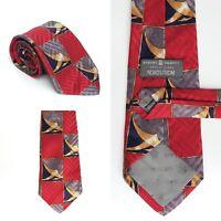 ROBERT TALBOTT Best of Class Silk Neck Tie Red Blue Gold 57 X 4