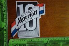Alter Aufkleber HOTEL MARRIOTT Amsterdam 1985