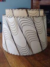 Mid Century Vintage Style 2 Tier Fiberglass Lamp Shades Atomic Ivory~