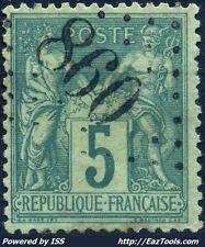 FRANCE TYPE SAGE N° 75 BELLE OBLITERATION JOUR DE L'AN GC 860