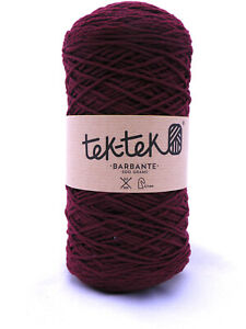 Crafting Cotton 6ply MAROON New Cotton Knit Crochet Weave 220m washable