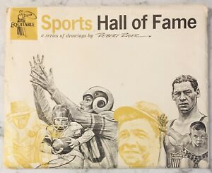 1960'S EQUITABLE SPORTS HALL OF FAME SERIES OF DRAWINGS 20 CT BY ROBERT RIGER