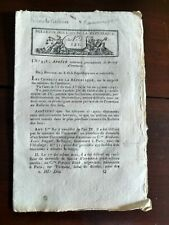 Antique French Republic Proclamation