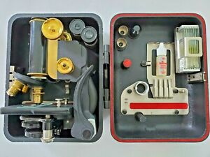 1921 Spencer Lens Portable Microscope No. 60H With Dustproof Carrying Case 71505