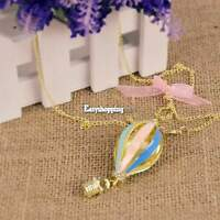 Hot New Retro Charm Fashion Chain Colorful Air Balloon Pendant Necklace