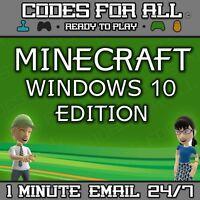 Minecraft Windows 10 Edition PC FULL GAME Region Free Digital Game Code