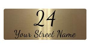270 Custom Personalised Address Metal Aluminium Plaque Sign For House Door Gate