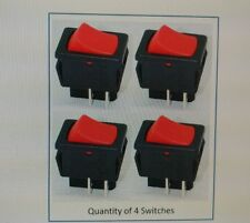4 x NEW Genuine SHOP VAC SHOPVAC Vacuum Wet & Dry ON OFF RED rocker switch