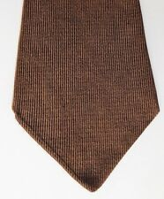 "Huge kipper tie Turnbull & Asser brown silk twill vintage 1960s 1970s 5"" wide"