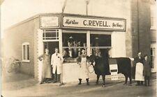More details for tunstall (near wickham market) photographer. c.revell butcher's shop by butcher.
