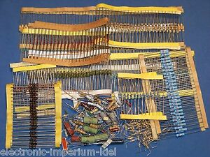 Assorted Resistors, 1000 Pieces, at Least 10 Various Value