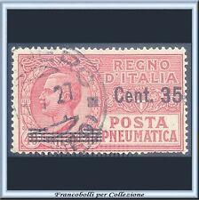 1927 Italia Regno Posta Pneumatica Soprastampato cent. 35 su 40 n. 11 Usato