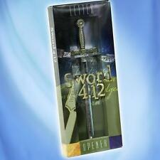 Silver and Brass Tones Sword Letter Opener with Ornate Handle 240150 a