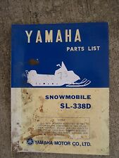**1972 Yamaha SL-338D Snowmobile Illustrated Parts List MORE SNO-MO IN STORE  V