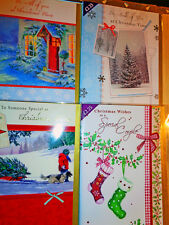 96 LUXURY CHRISTMAS CARDS RET £2.25 &£1.99ea. 16 DESIGNS reduced to just 18p ea