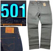 Levis 501 Shrink to Fit Jeans Rigid Grey Raw Blue STF Denim Fly Levi's 1403 0000