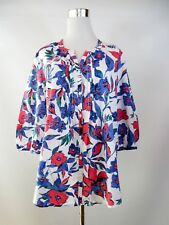 Charles Vogele Women's Cotton Floral Casual Summer Blouse Shirt sz UK 14 L BF71