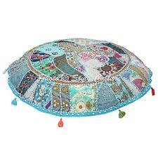 Home Decor Cotton Ottoman Pouf Cover Indian Patchwork Floor Cushion Cover Pouf