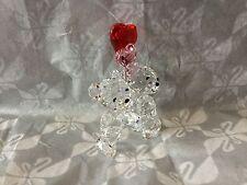 "***Swarovski Crystal Figurine 2016 KRIS BEAR ""Heart Balloons"""