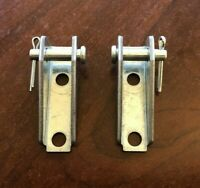 2 PACK - Todco Style Roll-up Door Box Cable Anchor Bracket Clevis Pin Kit - ZINC