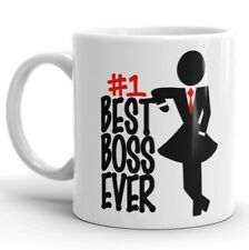 BEST BOSS EVER Coffee Mug #1 Lady Boss Gift for Women Manager Work Office Cup