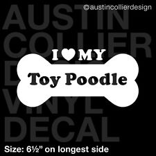"""6.5"""" TOY POODLE vinyl decal car window laptop sticker - dog breed rescue"""