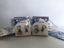 Los Angeles Dodgers Baseball Hello Kitty Earrings Brand New In Package! Limited