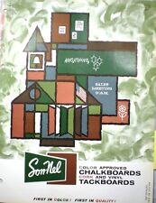 SON-NEL Sonnel Products Catalog ASBESTOS Cement Chalkboards in SCHOOLS!! 1962
