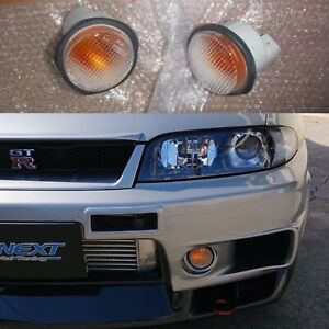 New Clear Indicator Turn Signal Light Set R33 GTR Skyline JDM OEM NISMO