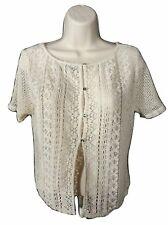 American Eagle AE Crochet Boho Light Knit Cardigan- Size M