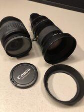 CANON Lens EF-S 18-55mm 1: 3.5-5.6 IS 0.28m/0.9ft & JVC ZOOM LENS 1:2/17~102