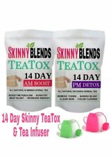 SKINNY 14 DAY TEATOX AM-PM DETOX TEA & WEIGHTLOSS TEA PLUS FREE TEA INFUSER!