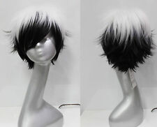Black and white style short paragraph Cosplay wig Party wig Free Shipping