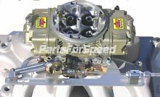 AED 6602C Holley Morse Throttle Cable Bracket Kit with Return Springs Silver