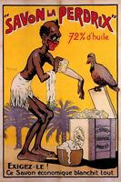 SAVON SOAP PERDRIX BATH WASHING BIRD FRANCE FRENCH VINTAGE POSTER REPRO