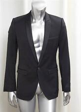 D&G DOLCE & GABBANA Mens Black Silk Blend Tux BRAD Jacket Coat 46 NEW TAGS $1085