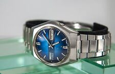 Scarce Men's 1997 Vintage Seiko 17 Jewel Blue Dial Automatic Watch 7009-8069