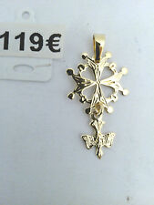 croix protestantisme or 18 carats (750/1000)