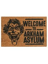 The Joker Welcome To Arkham Asylum Brown Door Mat 60x40cm