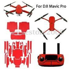 For DJI Mavic Pro Red Pro Carbon Fiber Full Sticker Graphic Wrap Kit Decal Film