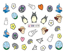 Nail Art Decals Transfers Stickers Cartoon Animals (BN479)