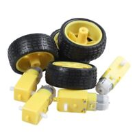 4 Pcs For Arduino Smart Car Robot Plastic Tire Wheel with DC 3-6V Gear MotorI3F4