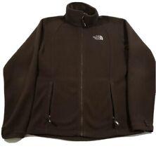 The North Face Mens Fleece Jacket Size L Brown Full Zip Polyester Sweatshirt